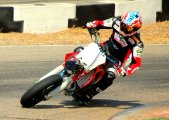 Max Biaggi Supermoto practice Riverside Ca